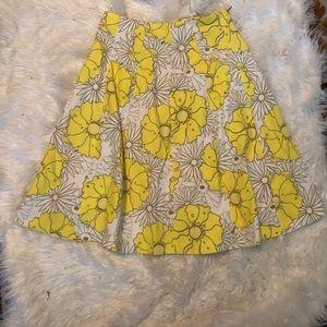 Topshop Skirts - Topshop Sunrise Floral Print Midi A-Line Skirt
